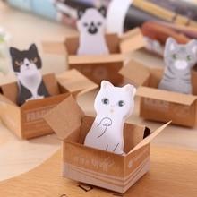 Kawaii милые блокноты для заметок с котом Китти, стикеры для заметок, этикетки, школьные канцелярские принадлежности, подарок