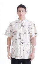 Shanghai Story  hot sale 100% cotton shirt Tang shirt Traditional Chinese kungfu shirt men Tang suit mandarin collar shirt