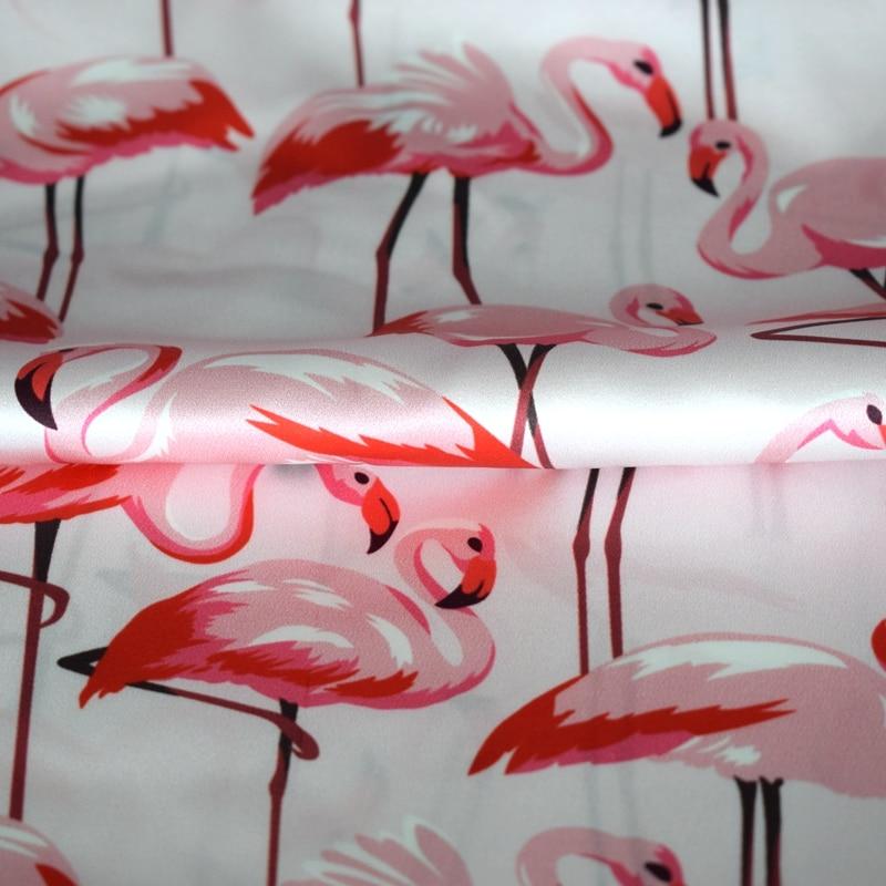 Limited Flamingos digital bedruckte Seide natürlichen - Kunst, Handwerk und Nähen - Foto 2