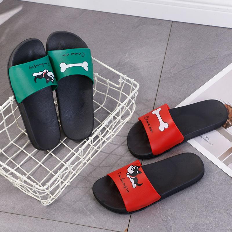 Summer Beach Slides Cartoon Women Slippers Cute Dog Home Slippers Slip on Sandals Women Shoes Flip Flops chaussures femme