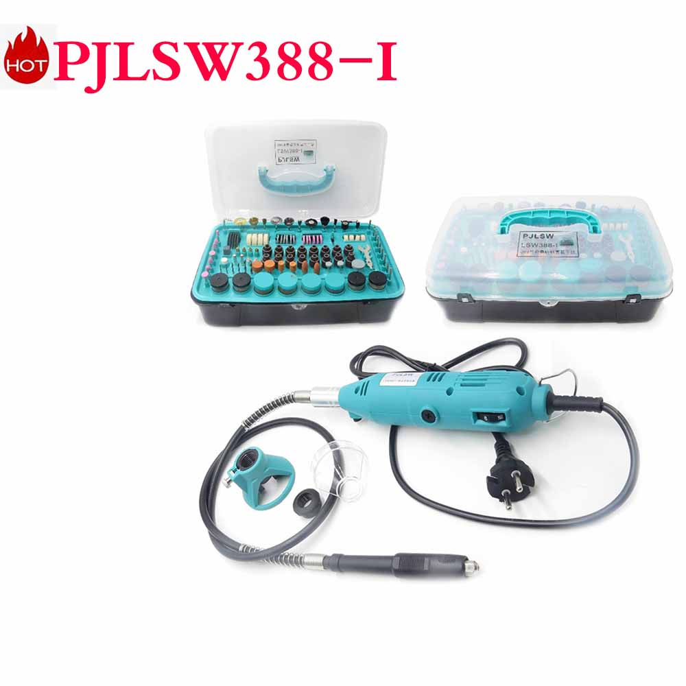 PJLSW388-I NEW Kit combination tool electric grinder suit small jade carving machine polishing machine grinding machin electric grinder suit hanging mill jade carving machine parts polishing abrasive grinding composition 100