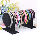 1 Pcs/lot Black Suede Bracelet Earring Watch Head Hoop Band Jewelry Frame Stand Display Rack Show Jewelry Accessory Holder