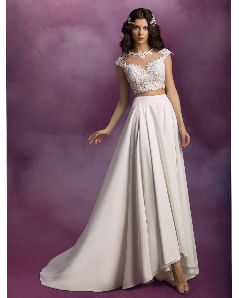 Popular 2 piece wedding dresses buy cheap 2 piece wedding for Wedding dresses 2 piece