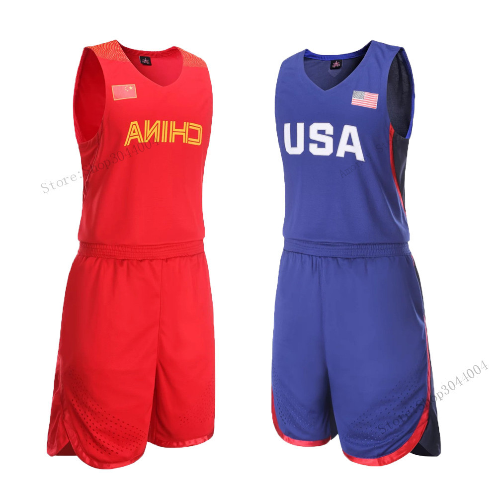 fbaa3763ab9 Adsmoney USA/China High Quality Men's Basketball Training Suit Set  Throwback College Basketball Jersey Tennis