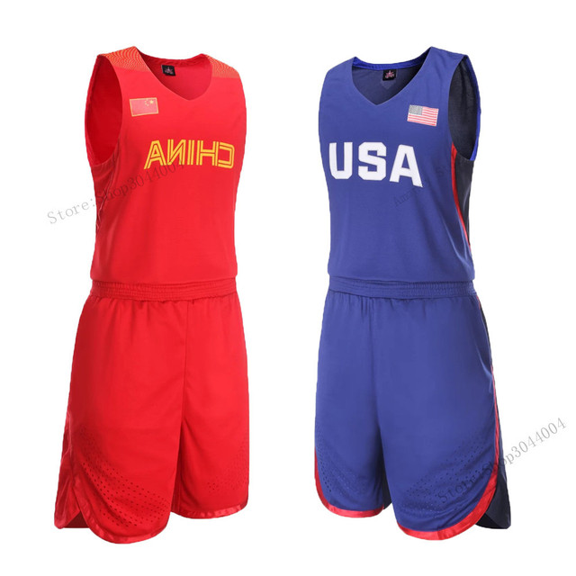 f45aa80d8e69 Adsmoney USA China High Quality Men s Basketball Training Suit Set  Throwback College Basketball Jersey Tennis Fitness suit
