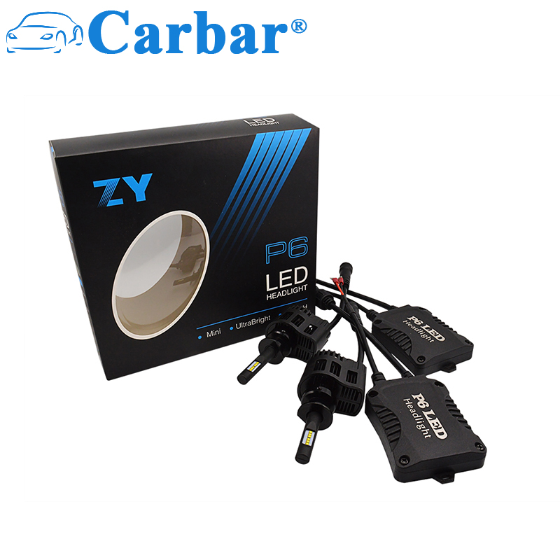 Carbar # P6 H1 ampoules de phares LED 4500LM 45 W blanc froid 6000 K remplacement de phare antibrouillard Super lumineux ampoule tout-en-un phare LED