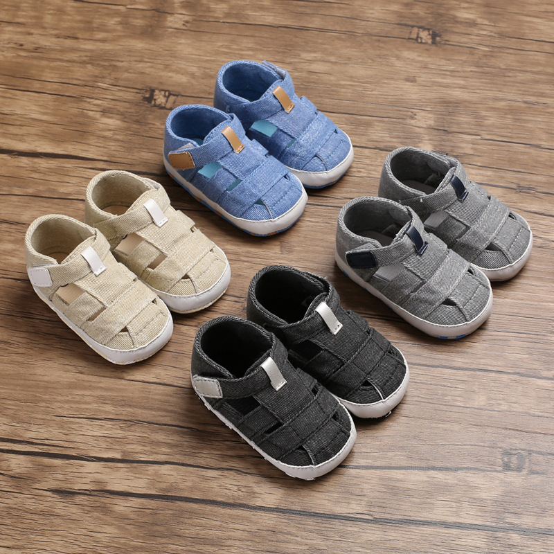 2020 New Baby Boys Sandals  Baby Hollowed Soft Bottom Sandals Casual Toddler Shoes  Baby Boy Shoes For 1 Year Old Summer Booties