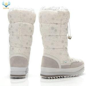 Image 2 - שלג מגפי נשים 2020 חורף מגפי קטיפה נעליים חמות בתוספת גודל 35 כדי גדול 42 קל ללבוש ילדה לבן zip נעלי נשי חם מגפיים