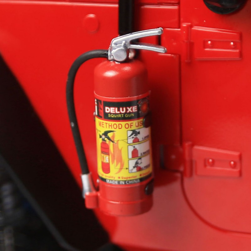 1/10  RC Crawler Accessory Parts Fire Extinguisher Model For Axial SCX10 TRX4 Stickers Car Model Accessories Baby Kids For Toys