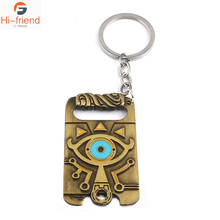 FC Game The Legend Of Zelda Keychain Magic Eye Men's Game Pendant Decorative Souvenir Necklace anime game series the legend of zelda pendant necklace kids jewelry stainless steel triforce symbol triangle layered necklace
