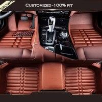 Custom car floor mats For Ssangyong all model actyon kyron rexton w chairman korando tivolan rodius musso sport car accessories