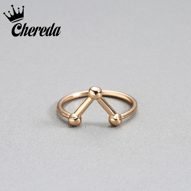 Chereda Fashion Women Rings Chemical Element Alloy Silver Gold Color Classic Lad