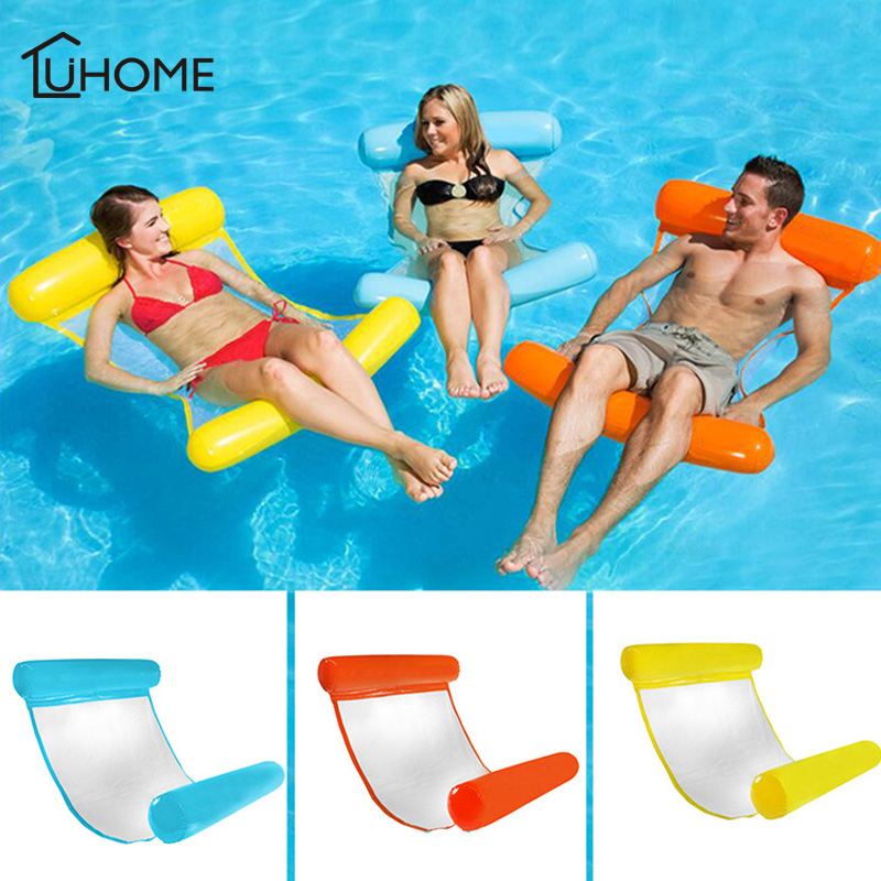 Summer PVC Floating Water Hammock Float Inflatable Floating Bed Beach Swimming Pool Lounge Float Chair Kids Adult Water Cushion