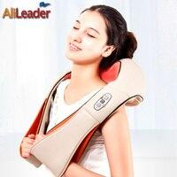 Relief Back Pain Massage Machine Portable Electric Massager Pillow 4D Shiatsu Kneading Neck Shoulder Back Foot