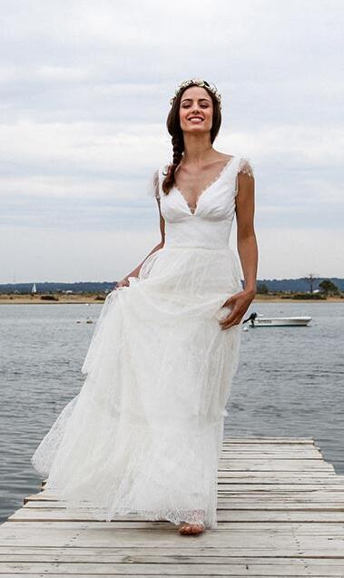 Popular Lace Informal Wedding Dress Buy Cheap Lace Informal Wedding Dress Lots From China Lace