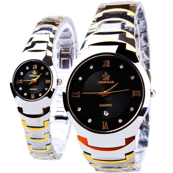 HK Crown Reginald Brand With Calendar Top Quality Watch Lovers's Business Man Woman Gift Fashion Quartz Wristwatches real amount of ceramic fashion set auger waterproof quality precision rotary calendar watch brand man woman a good watch
