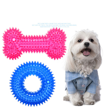 1Pcs Multicolor Non-toxic Circle Rubber Pet Dog Toy Puppy Dental Teeth Healthy Chew Biting Ring Supplies