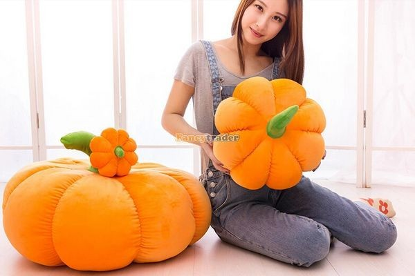 Fancytrader Hot Sale 28\'\'70cm Lovely Giant Stuffed Pumpkin Toy,Gift for kids and Hallowmas Decoration  Free Shipping FT50047(6)