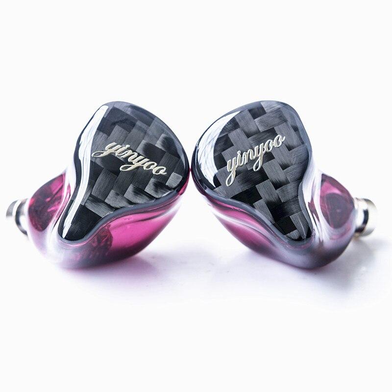 Yinyoo HQ8 8BA in Trasduttore Auricolare Dell'orecchio Custom Made Balanced Armature Intorno Ear Auricolare Auricolare Auricolari Con MMCX Stesso come QDC borsette