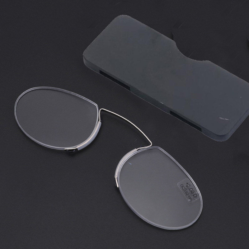Clip nose Reading Glasses Men Simple Ultralight Portable Spectacles Women Ultrathin Card Box 1 0, 1 5, 2 0, 2 5, 3 0 in Women 39 s Reading Glasses from Apparel Accessories