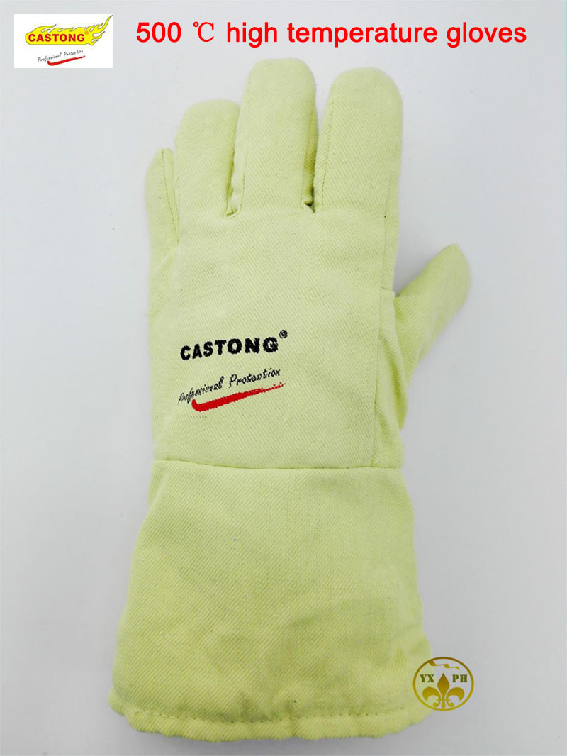 Fireproof glovesYBBB high temperature resistant gloves 500 degrees heat insulation, anti - scald cutting safety glove