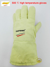 Fireproof glovesYBBB high temperature resistant gloves 500 degrees heat insulation, anti – scald cutting safety glove