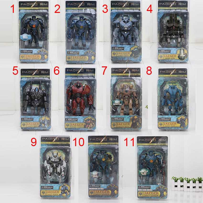 18CM Pacific Rim Figure Jaeger Gipsy Danger Crimson Typhoon Coyote Tango Damage Gipsy Danger PVC Action Figures Model Toy