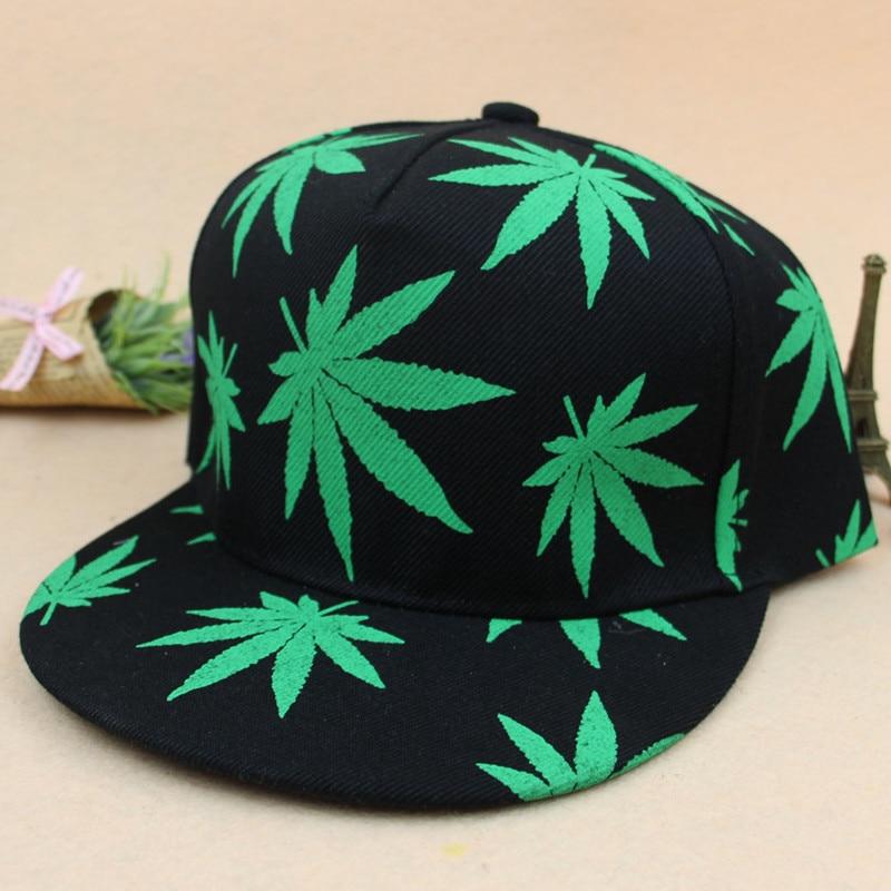 Baseball Leaf Cap Outdoor Green Cannabina Panama Hip Hop Summer Sombrero Cubo Fishing Cap Polo Hats Casquette Gorra