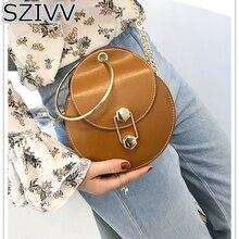 Women Crossbody Bags Korean Personality Ring Handle Handbag Candy-colored Mini Cute bag Trend Chain Shoulder Messenger Bag SZIVV
