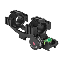 WESTHUNTER 25.4/30mm Tactical Weaver Scope Rings 1 inch One Piece Picatinny Rail Scope Mount With Angle Bubble Level