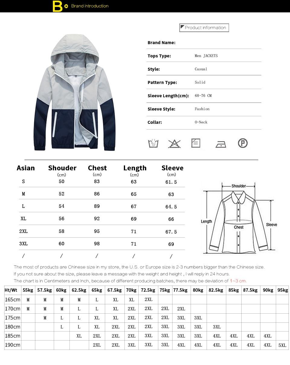 HTB1krpUX42rK1RkSnhJq6ykdpXaV FGKKS Men Jacket Windbreake Autumn Men's Fashion Jacket Hooded Casual Male Coat Thin Men's Jackets Sunscreen