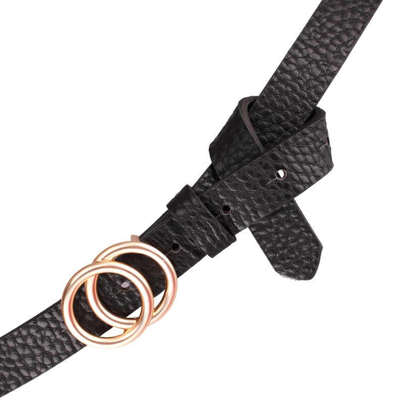 Earnda デザイナー女性のベルトゴールドバックル女性のジーンズスキニーレザーストラップ高品質 Cinturon Mujer