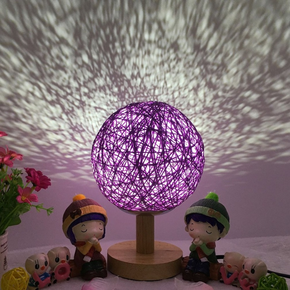 Romantic LED Moon Light 3D Print Magical Projection Night Light Lamp Desk Ball Light Touch Switch with Wood Base for Home Decor