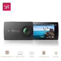 Экшн камера YI 4K   Матрица SONY IMX377   Сенсорный экран диагональю 2,19   широкоугольный объектив с углом зрения 155 градусов