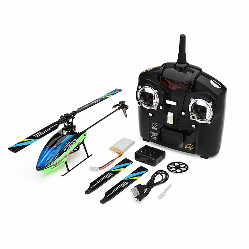 2018 New Hot WLtoys V911S 2.4G 4CH 6 Aixs Gyro Flybarless RC Helicopter RTF