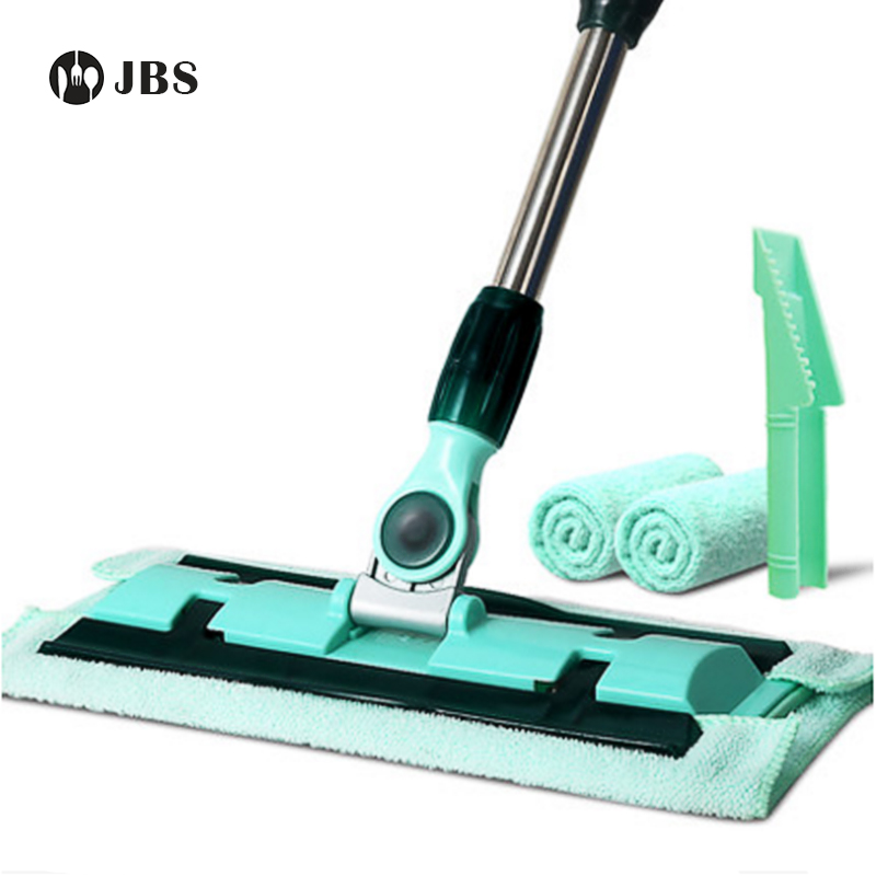 Flat Mops 360 Spin Mop Sweeping The Hard Floor With Bucket