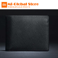 Original Xiaomi 90FUN Leather Wallet Stylish Business Casual Purse bag Cross grain cowhide Scratch resistant high quality