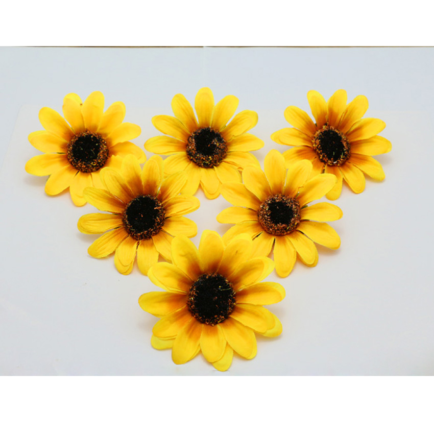 Best seller wholesale 7cm 40pcslot sunflowers silk flowers heads wholesale 7cm 40pcslot sunflowers silk flowers heads for wedding home party diy decorative mightylinksfo