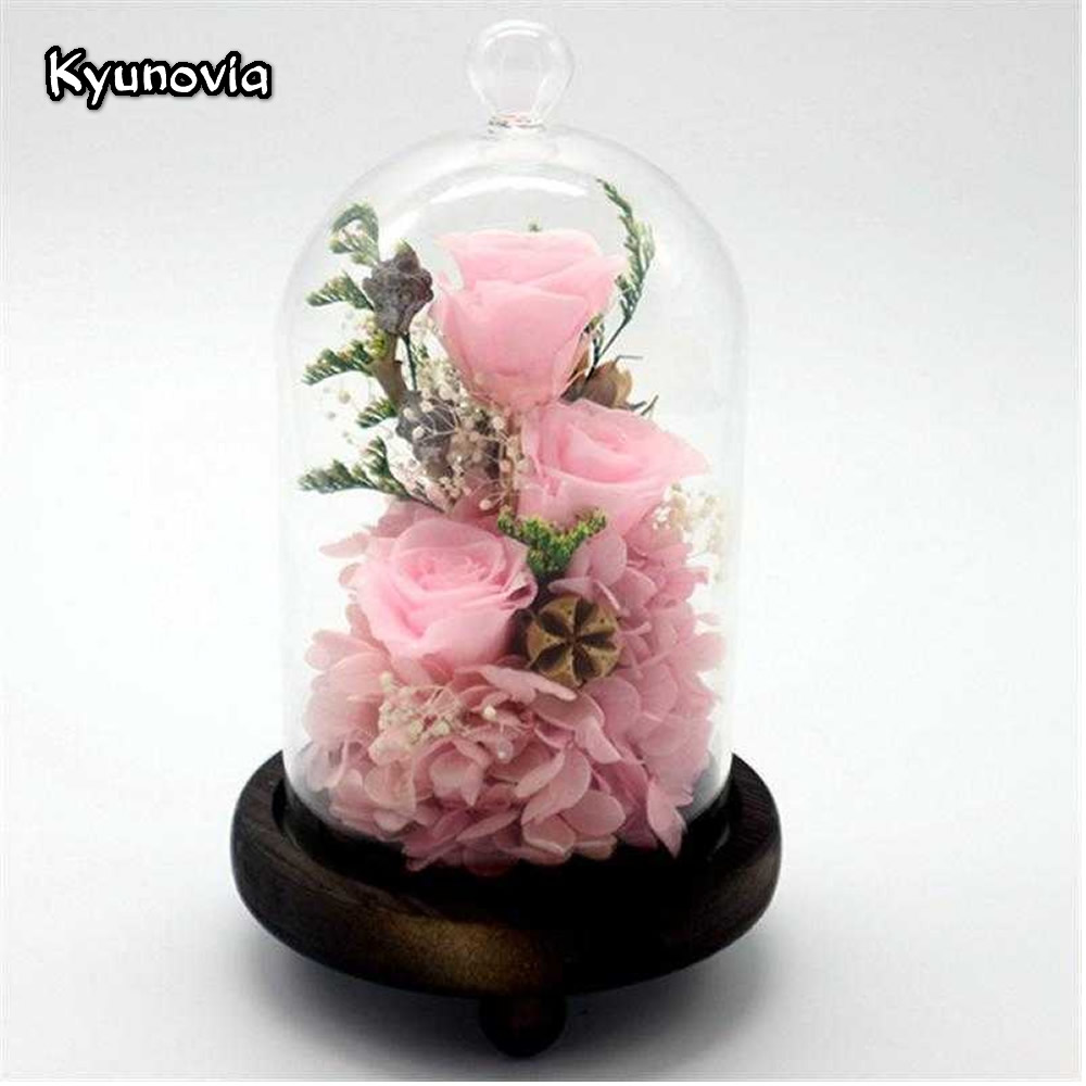 Aliexpress buy kyunovia red 3 roses in a glass preserved rose aliexpress buy kyunovia red 3 roses in a glass preserved rose flower valentines day birthday gifts home decorative flower ky115 from reliable home izmirmasajfo