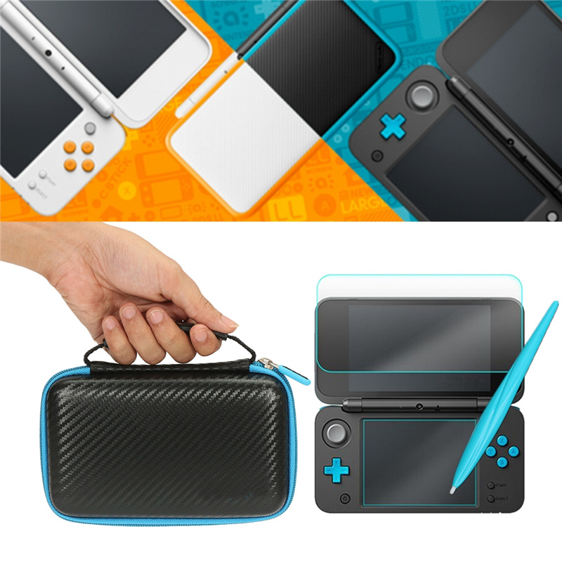 цена 3 In 1 Accessories Set For Nintendo New 2DS XL/LL EVA Carrying Protective Case Bag + Screen Protector + Stylus For New 2DS LL