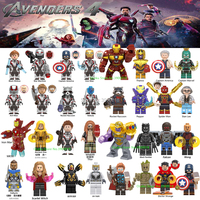 32pcs Set legoing Captain Marvel Avengers Endgame Figures War Machine Thanos Iron Spider Man Black Widow Building Blocks Toys