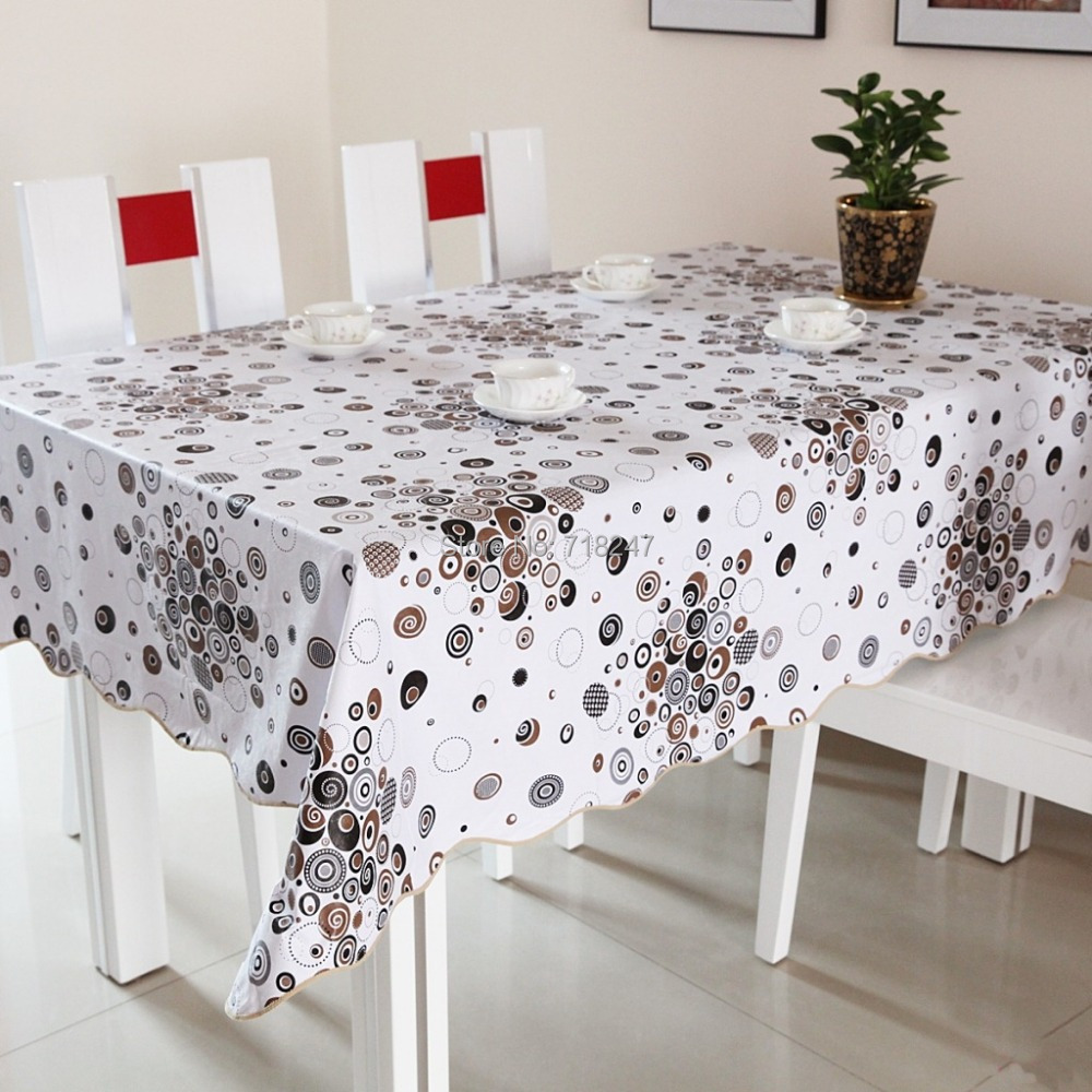 Hot High Quality 152cm Square PVC Printed Table Cloth Covers Plastic  Waterproof Oil Heat Resistant Disposable