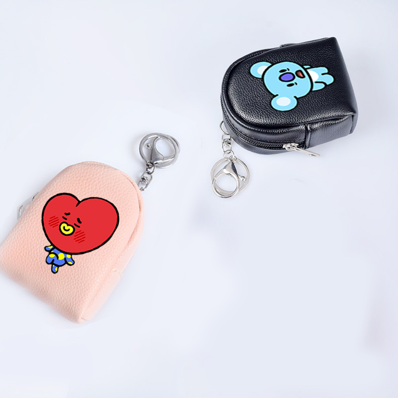 Hot Fashion Mini Cute Bt21 Kpop Bts Bangtan Boys Korean Style Key Buckle Purse Gift Cartoon Army Fans Leatherwear Wallet Unequal In Performance
