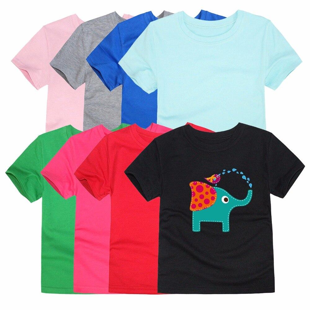 Jomake Kinder Blusen & Shirts Cartoon Elefanten Gedruckt Kinder Baumwolle Shirts Für Mädchen Und Jungen Langarm Baby Tops Kleidung Blusen & Hemden Mädchen Kleidung