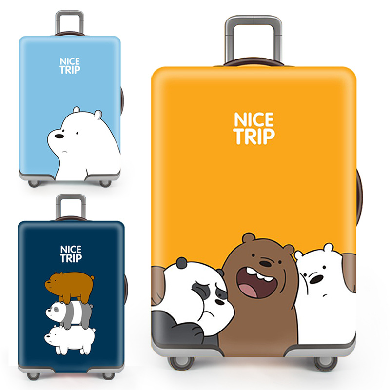high quality Cute bear suitcase cover travel accessories Case set luggage cover dust cover Trolley protection cover image