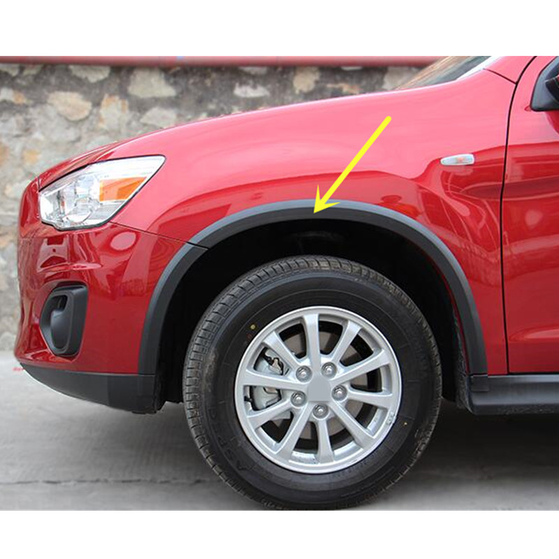Car styling!16pcs Plastic Set Wheel Arch Fender Flares Cover Trim For Mitsubishi Outlander ASX Sport 2013 2014 2015 4pcs chrome abs side door body molding surround cover trim for mitsubishi outlander sport asx 2013 2014 2015 car styling