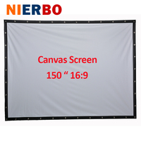 Factory Sales 150 Inch 16 9 Projector HD Screen Portable Folded Front Projection Screen Fabric With
