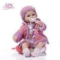 NPK Realistic Baby Dolls Reborn Girl 18'' Lifelike Soft Silicone Babies Reborn Baby Doll Toys For Children Christmas Gift