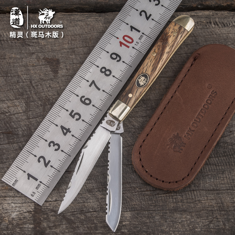 HX OUTDOORS survival folded pocket double knife high grade gift good quality portable carry knife tool EDC outdoor tool knives high quality army survival knife high hardness wilderness knives essential self defense camping knife hunting outdoor tools edc