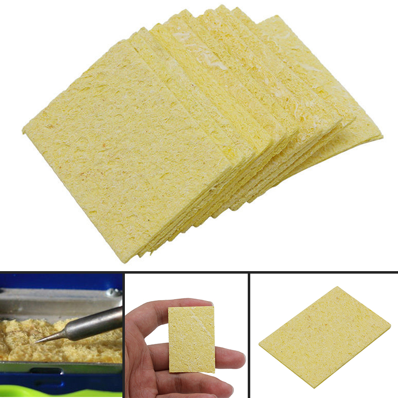 10/20/50/100 pcs Cleaning Sponge Soldering Iron Sponge Electric Welding Cleaner